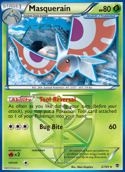 Preview of the Pokemon TCG Card Masquerain