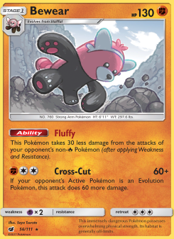 Preview of the Pokemon TCG Card Bewear
