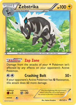 Preview of the Pokemon TCG Card Zebstrika